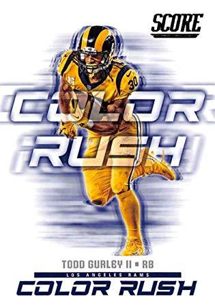 Amazon Com 2018 Score Color Rush 4 Todd Gurley Ii Los Angeles Rams Football Card Collectibles Fine Art Color Rush Rams Football Los Angeles Rams