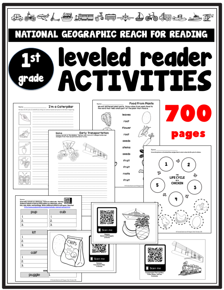 Reach for Reading Leveled Reader Activities for 1st grade