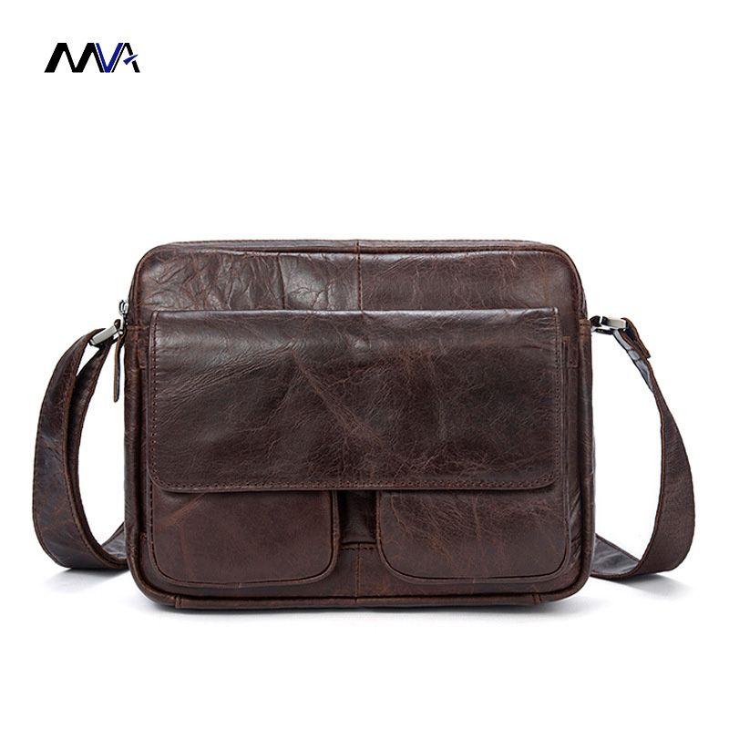 e4d440a5bd4c MVA Crossbody Bags Men s Bags Genuine Cowhide Leather Man Shoulder Bag  Vintage Male Messenger Bag Small