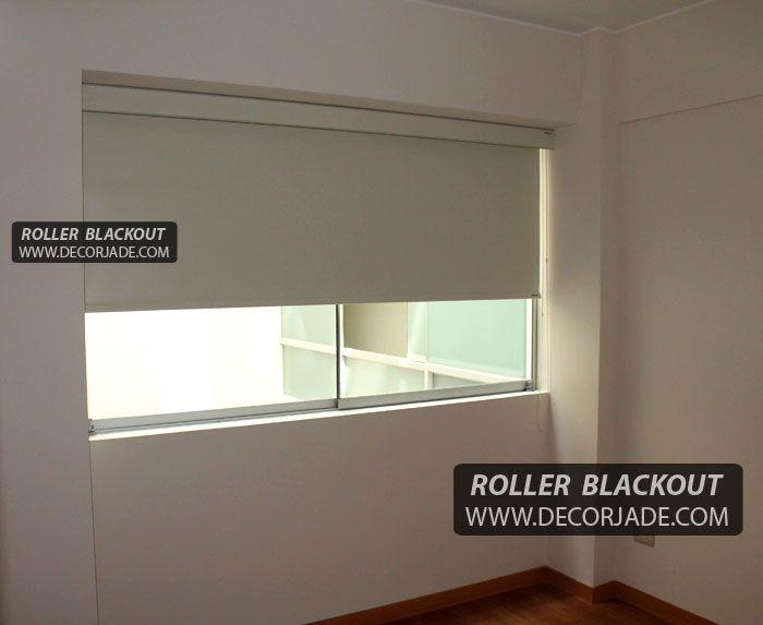 Cortinas roller blackout instalada en surco con cenefa decorativa coordinada con la misma t - Cortinas de dormitorios ...