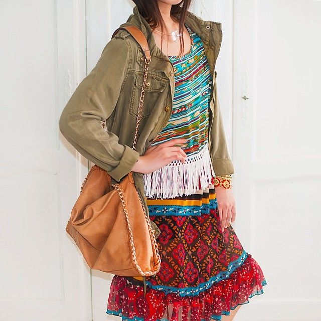 Crushing on this eclectic style put together by @kitanas_closet. And did we mention the FRINGE? #obsessed