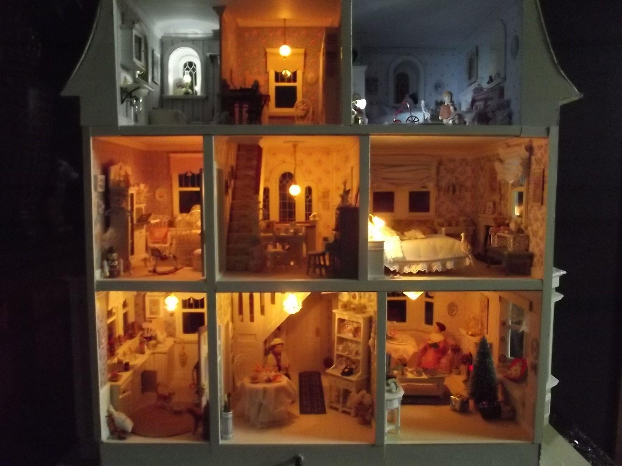 Beacon Hill Dolls House at night