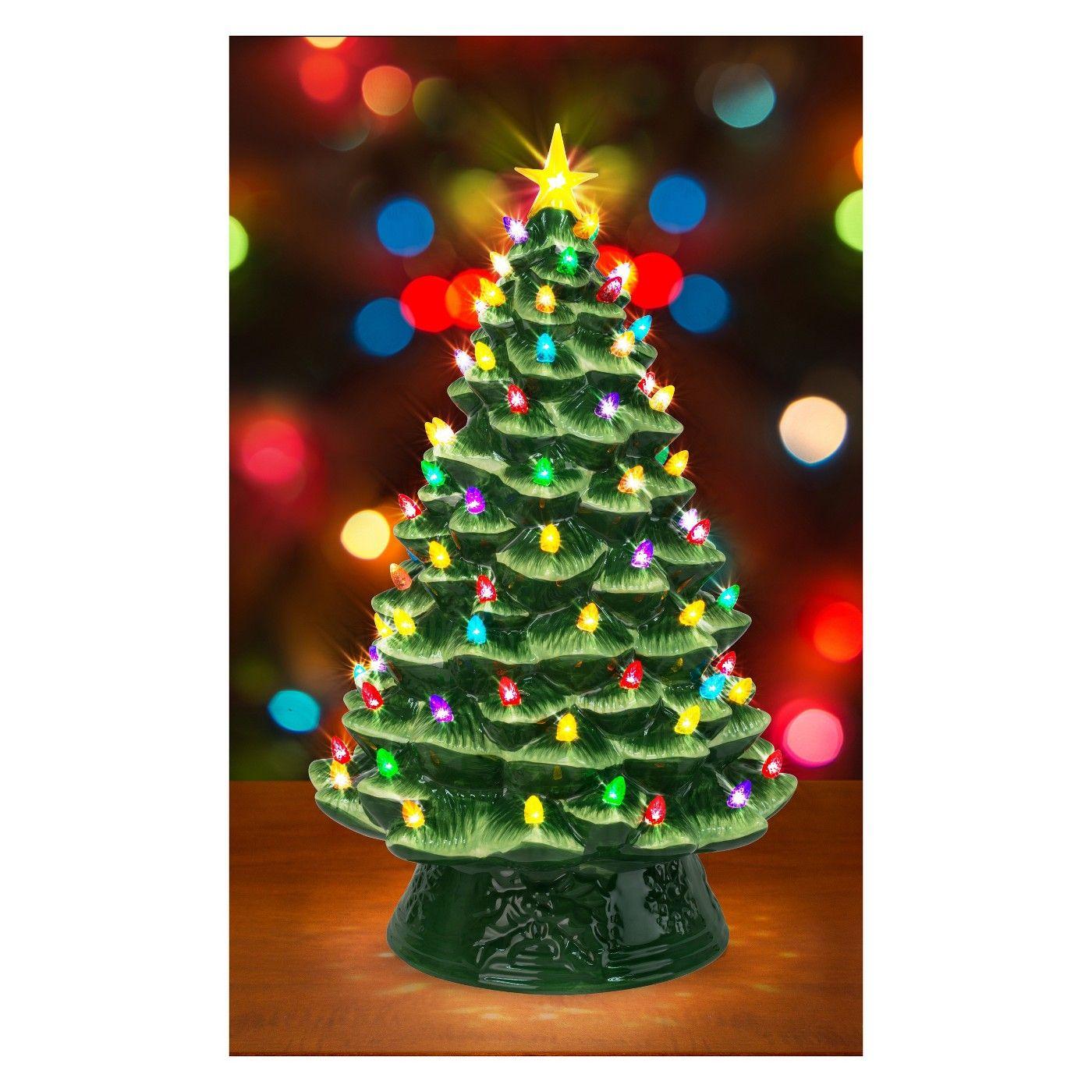 Mr Christmas Ceramic Christmas Tree Green Wondershop Afflink