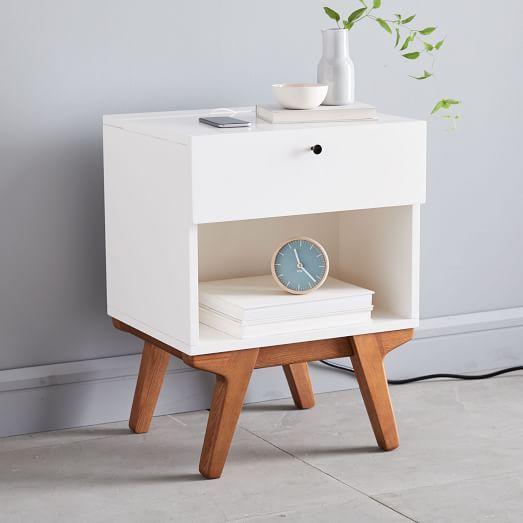 Modern Nightstand In 2020 Modern Bed Linen White Furniture Bedroom Modern Modern Nightstand