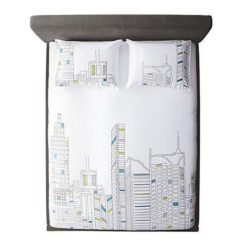 Best Skyline Bed Linens Cb2 79 95 Modern Bed Duvet Covers 400 x 300