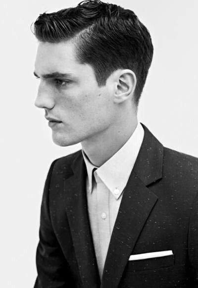 Possible Hairstyle Sleek Parted And Combed Back With