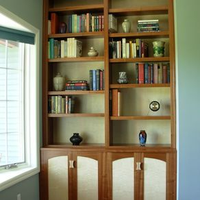 Sapele And Curly Maple Bookcase And Cabinet By Scott Sober Bookcase Built In Bookcase Sapele