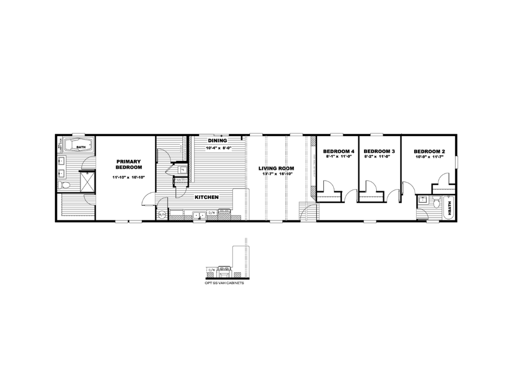 The Anniversary 18 4 Br Clayton Homes In 2021 Clayton Homes Home Floor Plans