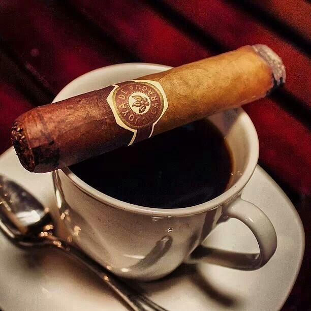 The perfect morning. #Coffee. #Cigar.   Cigars, Cigars and whiskey, Cuban  cigars