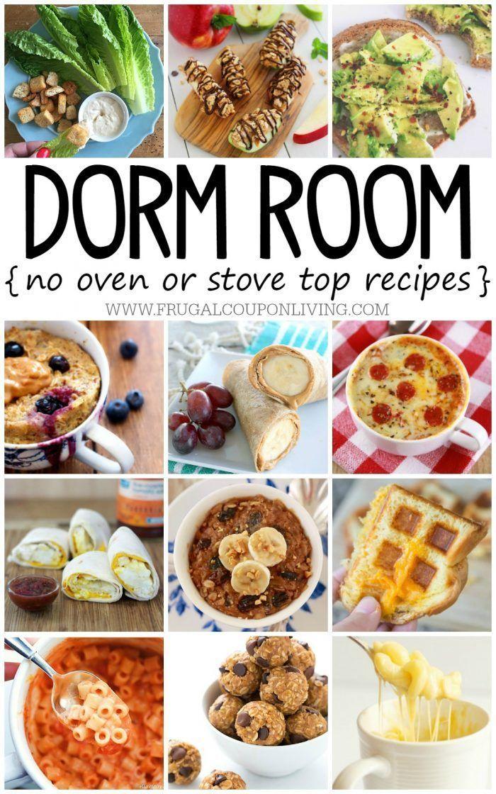 No Bake Dorm Room Recipes You Want To Eat Breakfast Lunch Snacks Dinner Mug Recipes Food Recipes