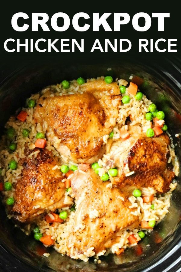 Photo of Crockpot Chicken and Rice – The Anthony Kitchen