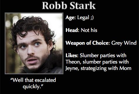 Robb Stark Meme