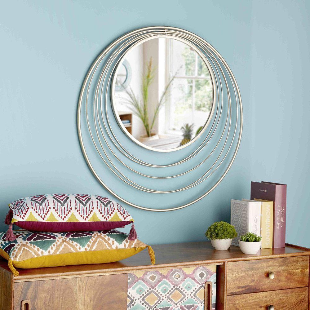 runder spiegel aus verkupfertem metall d.90 cm klint | interieur, Badezimmer ideen