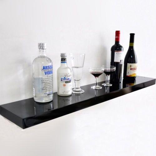400x400x40cm One Black High Gloss Shelving Mount Wall Bracket Skybox Mesmerizing Floating Hi Fi Shelves