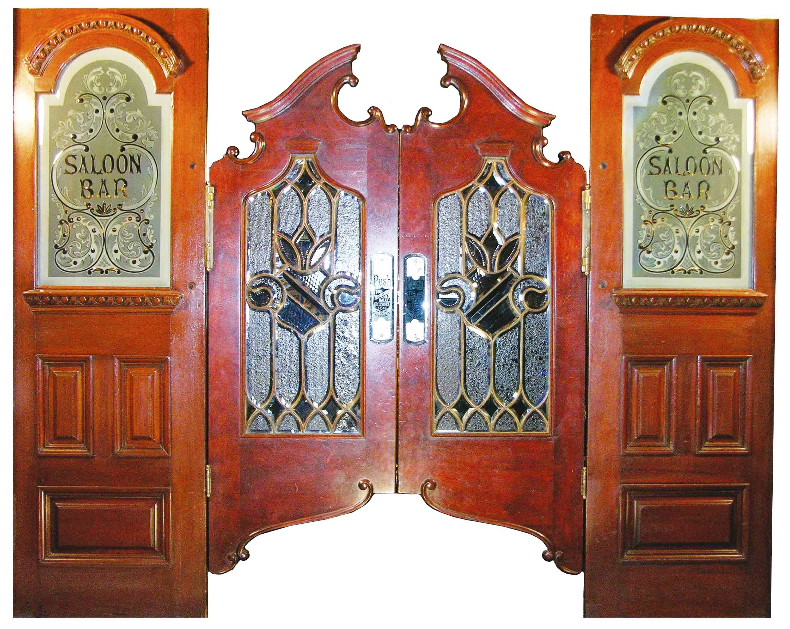 Saloon doors are a pair of lightweight swing doors often found in public bars and & Vintage Swinging Cafe Doors Handcrafted Aged Wood Saloon Pub ... Pezcame.Com