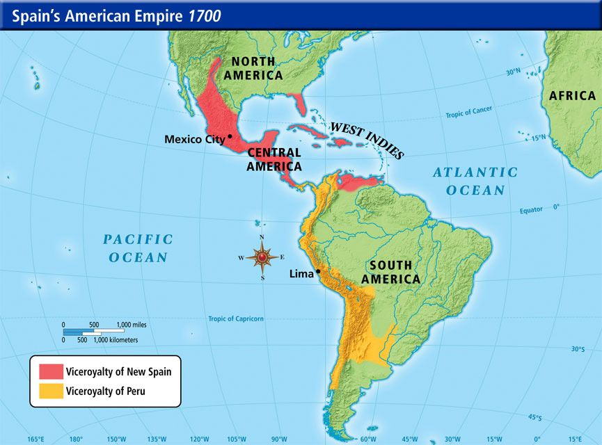 Spanish Empire In America 1750 History For Class Pinterest