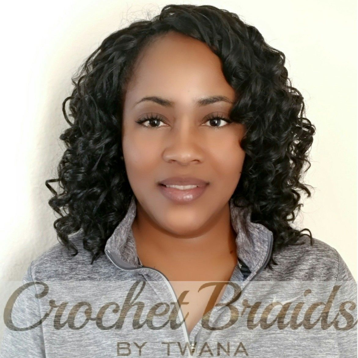 Crochet braids with outre xpression deep twist 3 packs cut in half then trimmed after - Crochet braids avec xpression ...