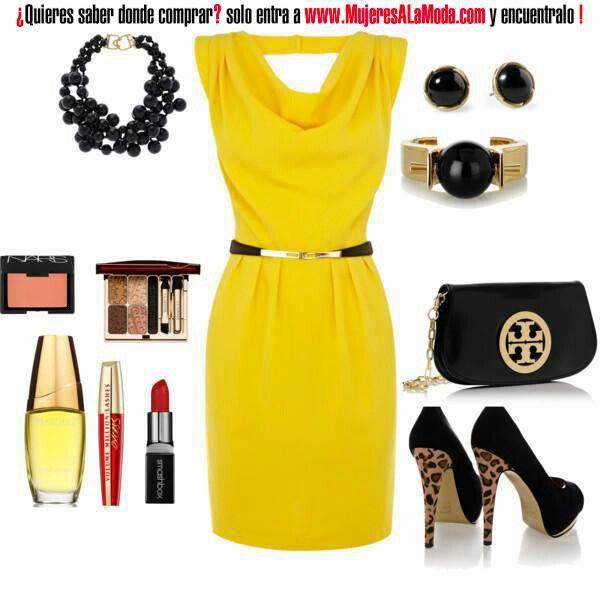 Vestido Amarillo Fashion Yellow Fashion Style