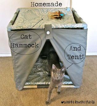 homemade cat bed hammock and tent  homemade cat bed hammock and tent    future pet list   pinterest      rh   za pinterest
