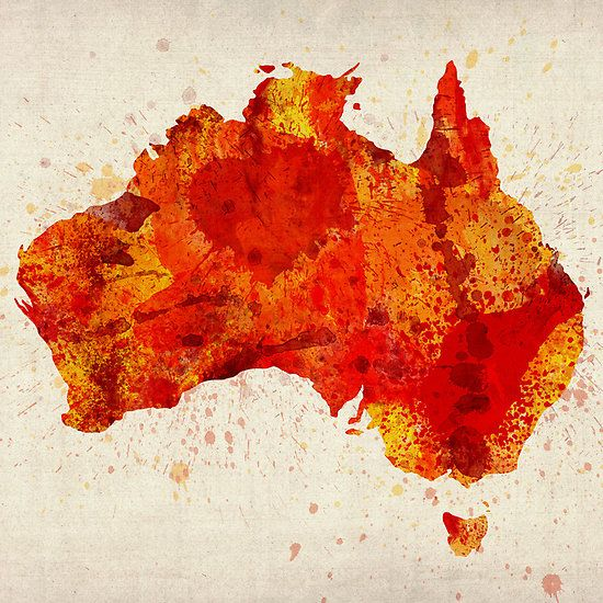 Australia watercolor map art print wanderlust pinterest australia watercolor map art print digital art by michael tompsett australia watercolor map art print fine art prints and posters for sale gumiabroncs Image collections
