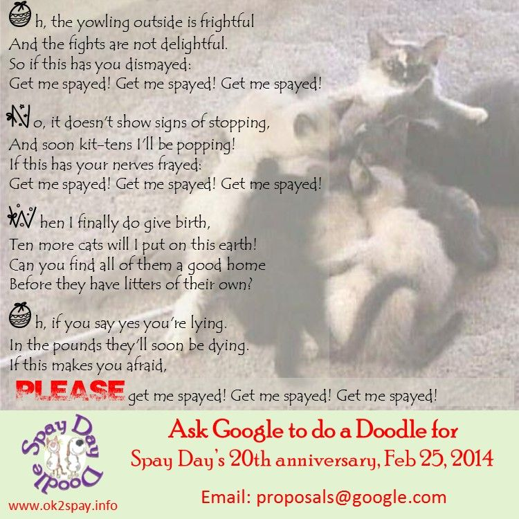 Spayneuter saves lives support doodle 4 spayday www