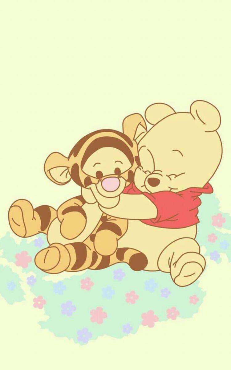disney, winnie the pooh, and cute Cute disney wallpaper