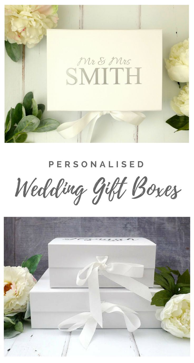 Wedding Gift Box - Personalised Mr & Mrs Gift Box - White Keepsake ...