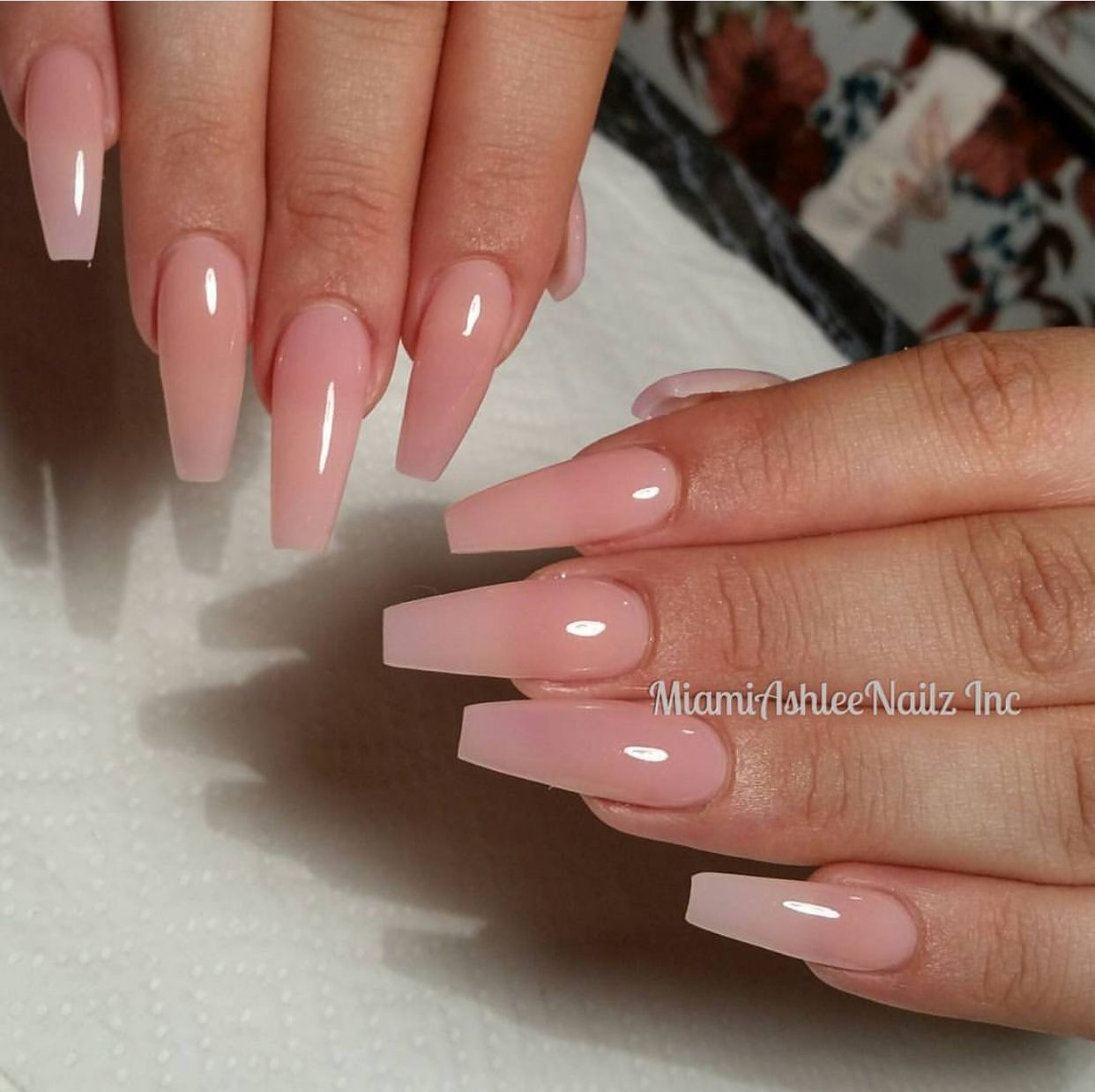 Pin By Mosadatupeters On Tattoos Pink Clear Nails Ballerina Nails Pink Acrylic Nails
