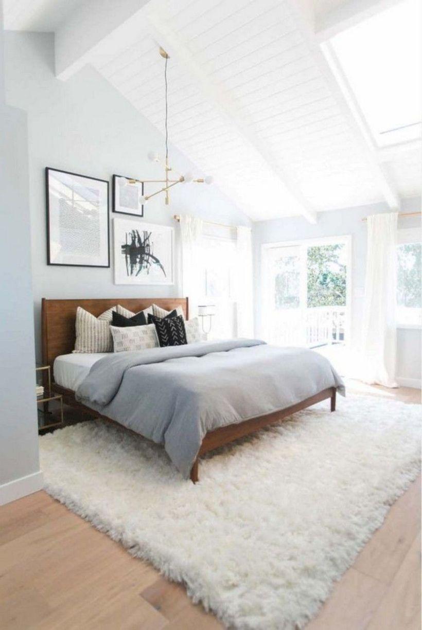 53 Cozy And Romantic Master Bedroom Design Ideas Mid Century Bedroom Decor Scandinavian Interior Bedroom Simple Bedroom