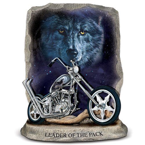 Leader Of The Pack Motorcycle Figurine By The Bradford Exchange Motorcycle Figurine Harley Men Harley Davidson Parts