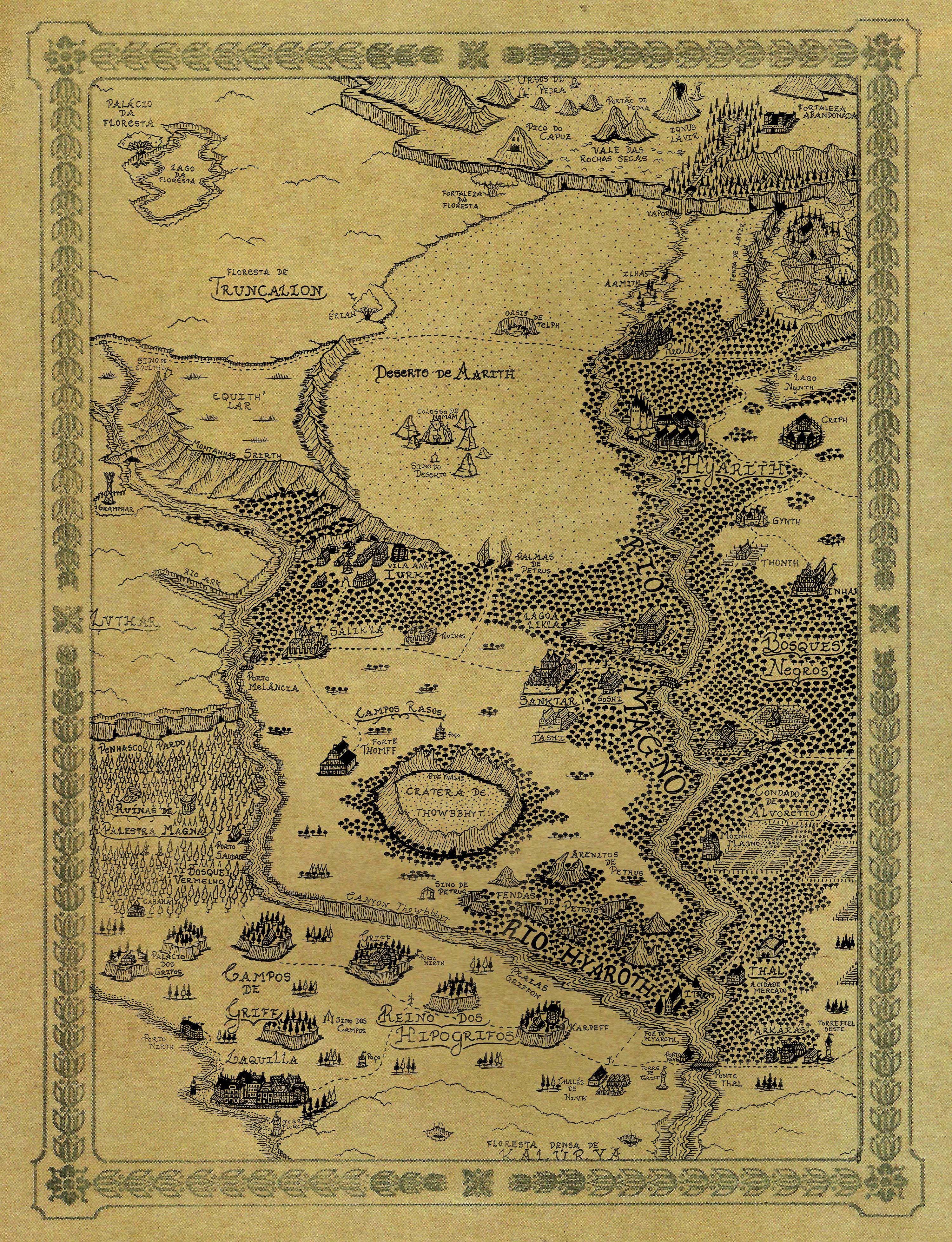 Mapa do Primeiro Mundo noroeste moldura | {Cartography} Fantasy Maps