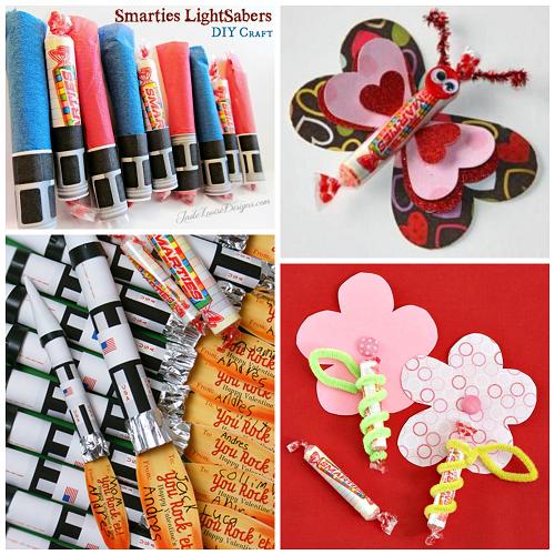 valentine ideas for kids using smarties candy - Boy Valentine Ideas