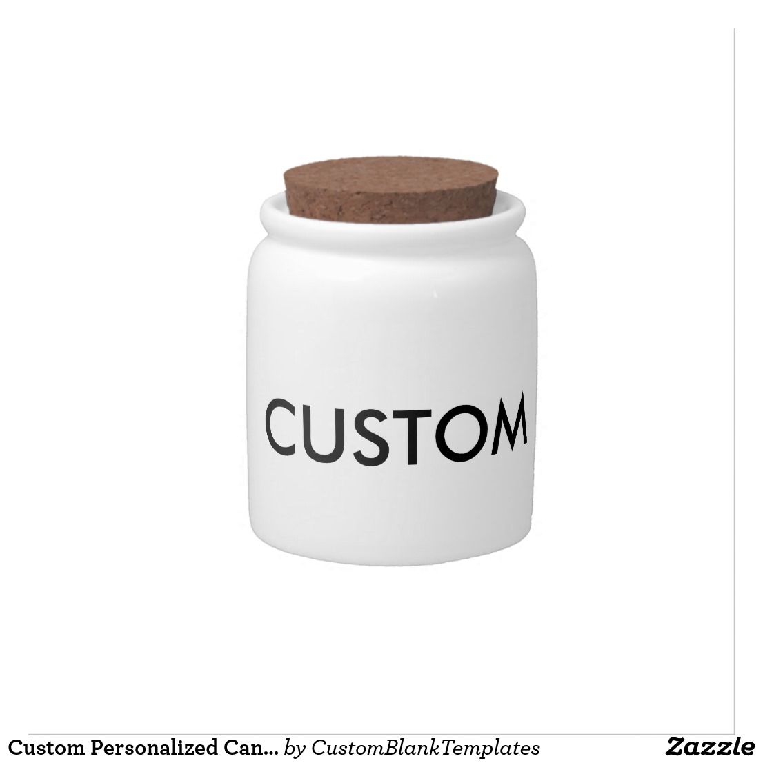 Custom Personalized Candy Jar Blank Template | Personalized candy