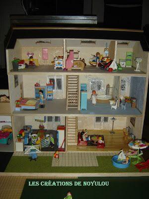 les creations de noyulou ses playmobils ont enfin leur maison no l playmobil pinterest. Black Bedroom Furniture Sets. Home Design Ideas