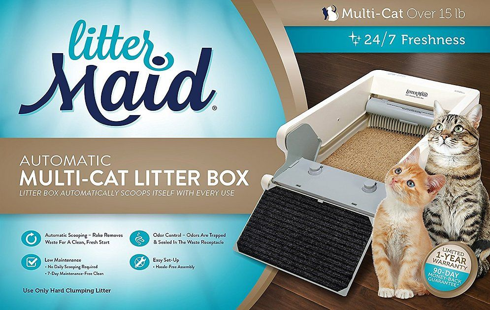 Shop Chewy For Littermaid S Multi Cat Automatic Self Cleaning Litter Box An Automatic Cat Litter Box Is At The Ultimate I Cat Litter Box Litter Box Cat Litter