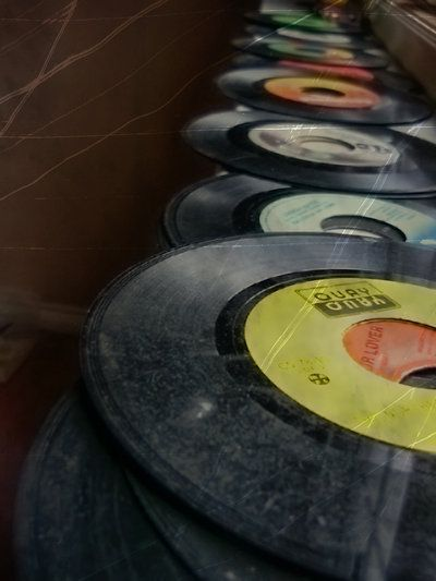 Old records - photography of music