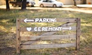 Cute idea for my backyard, outside wedding!!