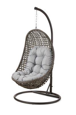 Debenhams Grey Rattan Effect La Malibu Garden Hanging Chair
