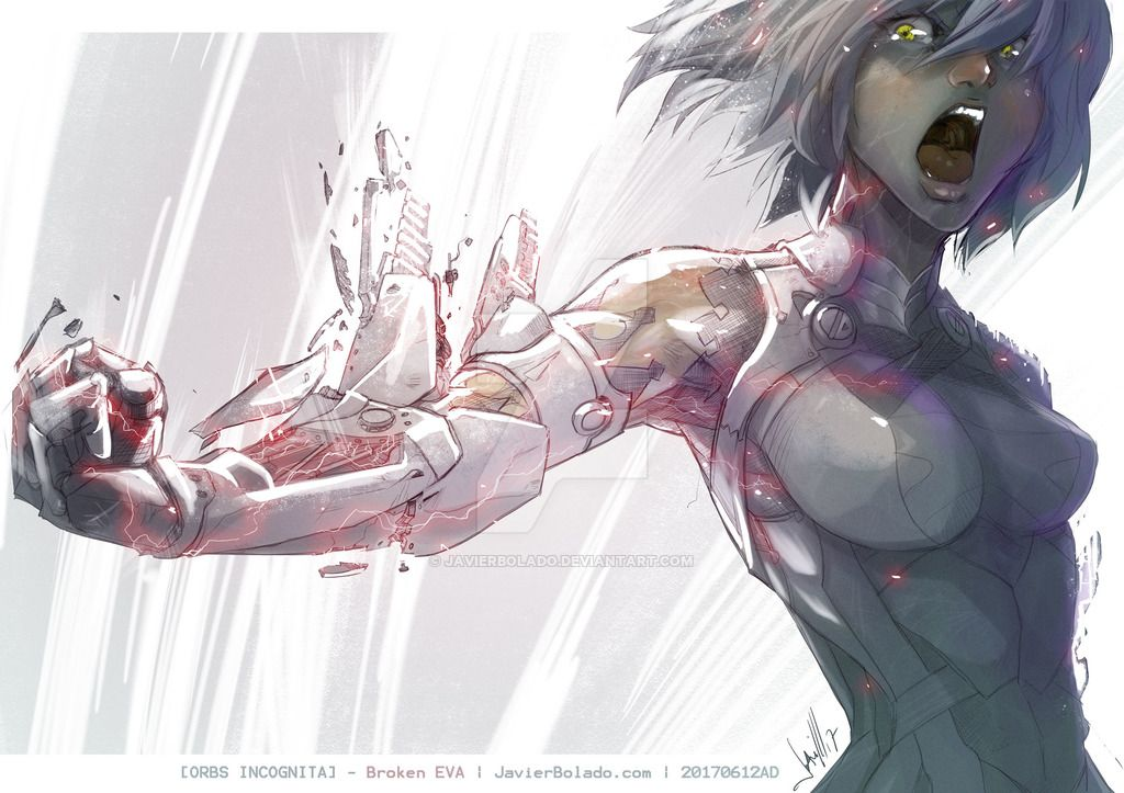 Broken Eva By Javierbolado Cyborg Anime Cyborg Girl Anime Art Beautiful