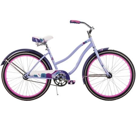 "24"" Huffy Girls' Cranbrook Cruiser Bike, Lilac - Walmart.com"