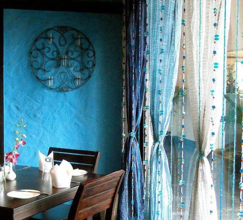 Beautiful Blue Bohemian Curtains Calming