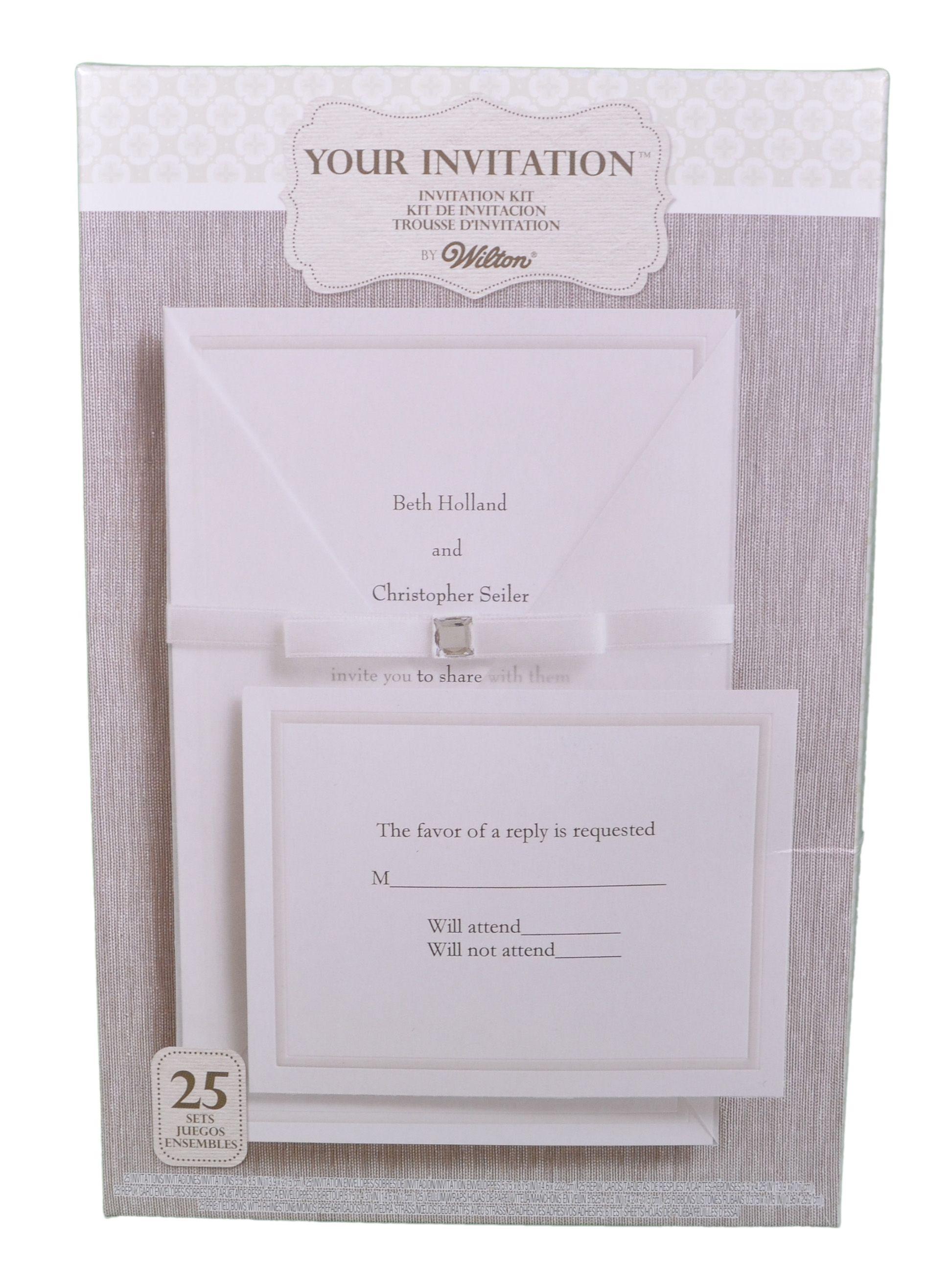 Set Of 25 Wilton Wedding Princess Invitation Kit 1010 107 Print At Home Wedding Invitation Kits Modern Wedding Invitation Wording Fun Wedding Invitations