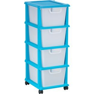 Buy  Drawer Plastic Storage Tower Blue At Argos Co Uk Your