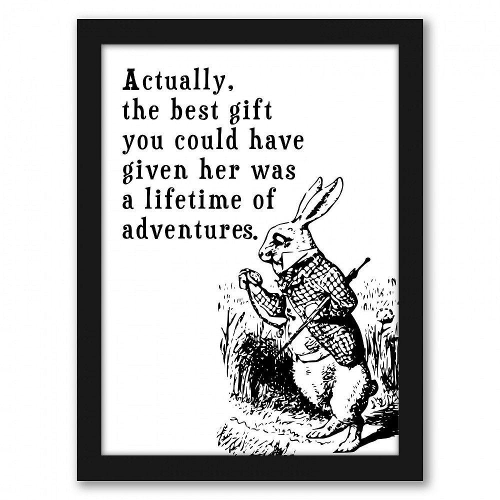 Americanflat - Alice In Wonderland Rabbit by Tanya Shumkina - Black Frame 8