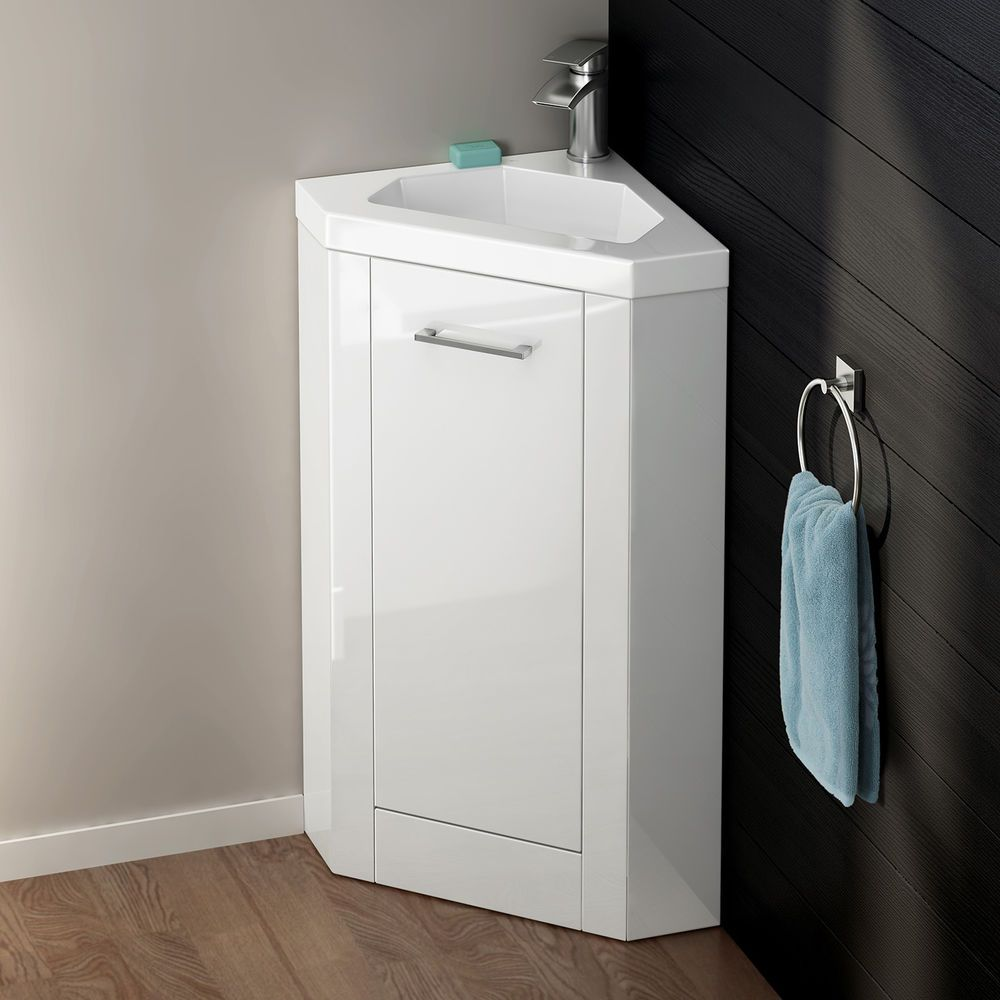 Floorstanding Corner Storage Cabinet Bathroom Vanity Unit ...