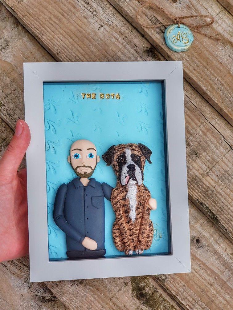 Dog lover gifts, custom boxer Christmas gift, dog dad