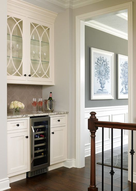 Awesome Bar Cabinet with Glass Doors