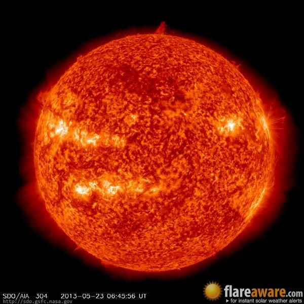 The Hourly Sun At 06 45 Am Utc On 23 May 2013 Solar Event
