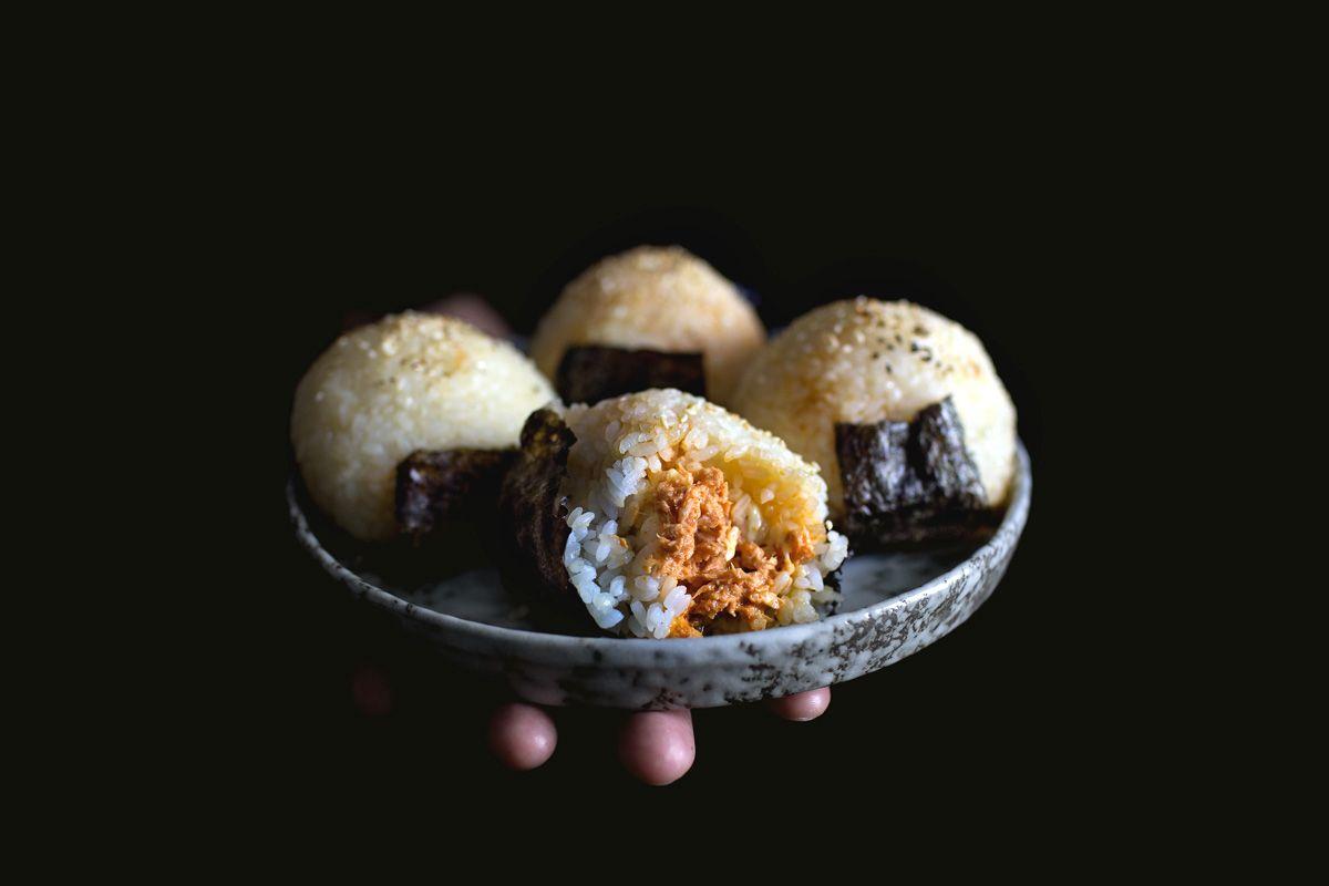 gochujang tuna melt onigiri