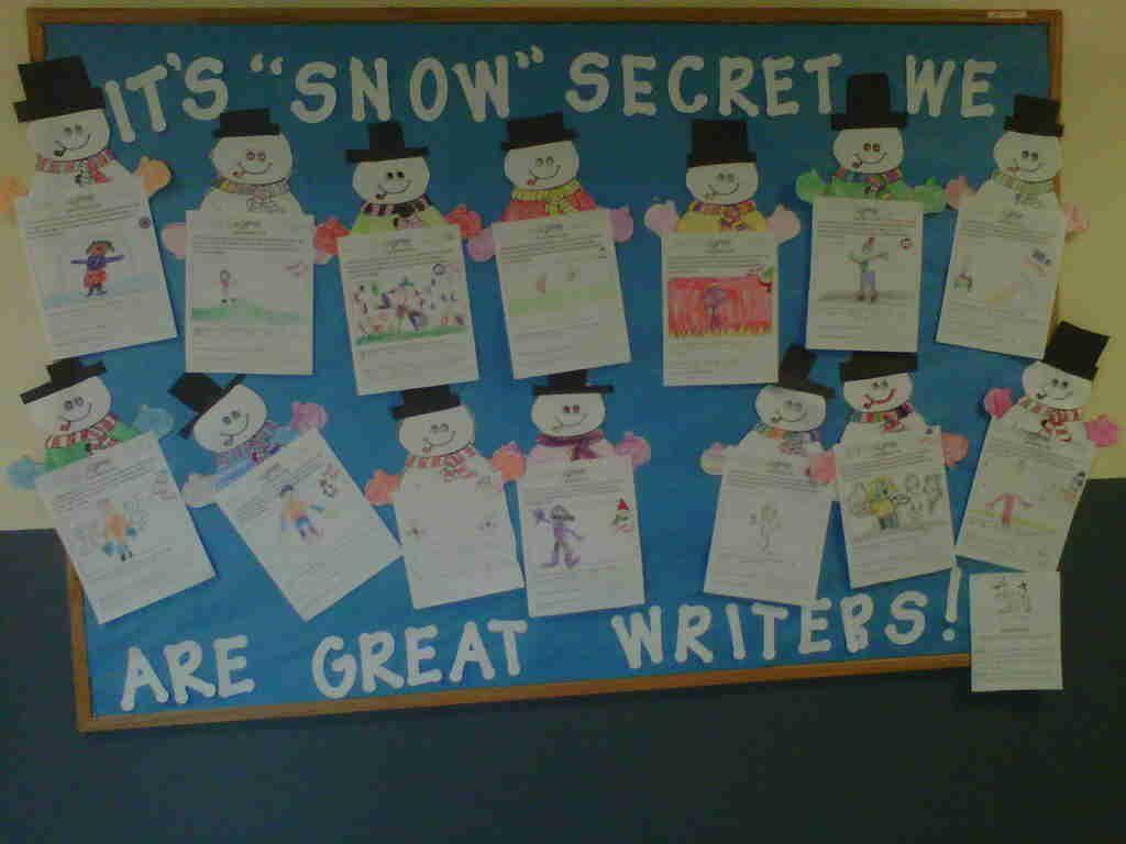 Elementary Classrooms Writing : Winter writing bulletin board december boards